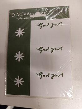 Juladresser - 9 st - grön kant med vit stjärna