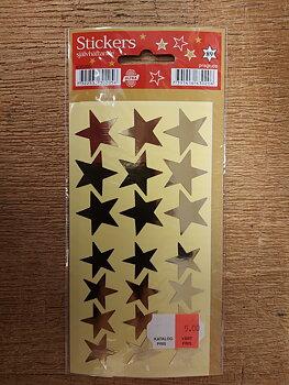 Julstickers - guldstjärnor