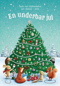 En underbar jul : pyssla med klistermärken som skimrar