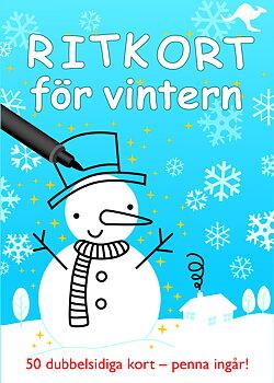Ritkort för vintern - 50 dubbelsidiga kort - penna ingår