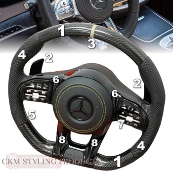 1. Steering sport FACELIFT 2018 style Leather/ Carbon/Piano  SUPER SPORT PLUG N PLAY