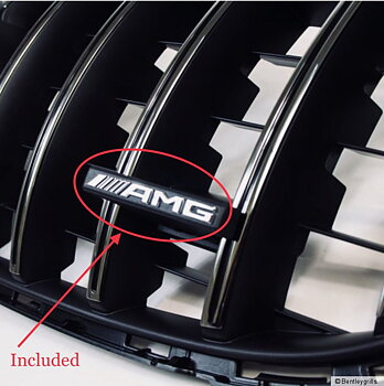 AMG GT-R panamerican GRILL emblem 1st MB Original