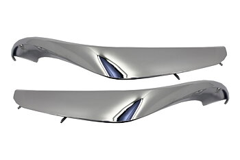 1.  S65 Design Chrome Edition Front Bumper Splitters 2pcs