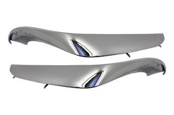 1.  S65 Design Chrome Edition Front Bumper Splitters 2st
