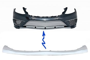 1.  S65 Design Chrome Edition Front Bumper Spoiler Lip
