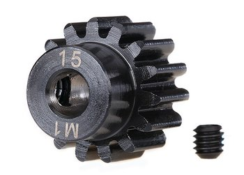 Pinion Drive 15T 1.0M Pitch for 5mm Shaft (Milled)