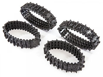 Drive belt Rubber Rough Set with 4 TRAXX