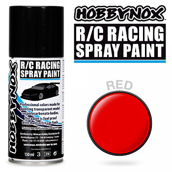 Röd R/C Racing Spray Färg 150 ml