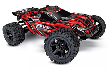 Rustler 4X4 XL-5 1/10 Stadium Truck with Batt/Charger Red