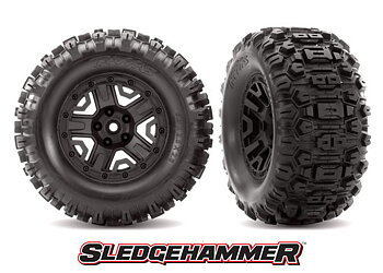 "Tires & Rims Sledgehammer Black 2.8 ""4WD (2)"