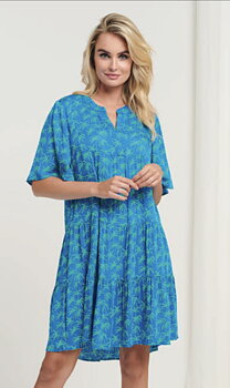 Blue/green Palmtree dress/tunic