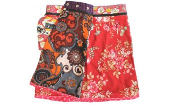 Reversable skirt red flowers