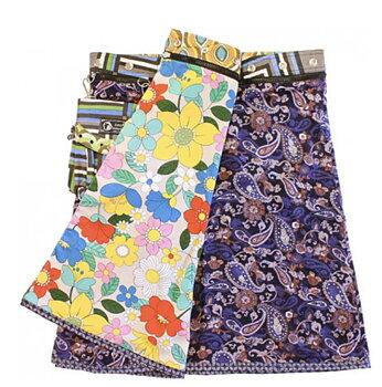 Vändbar kjol rayon Lana   lila paisly/ blommor