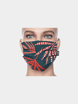 Facemask petrol/red