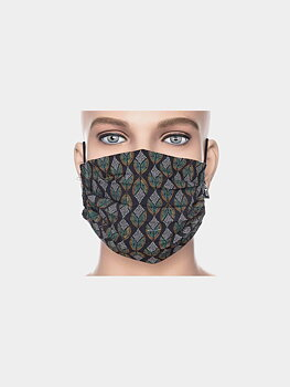 Facemask black/petrol/white