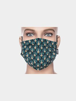 Facemask petrol/white/yellow