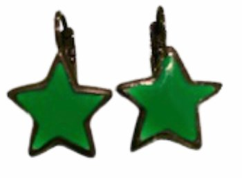 Star Earings Green