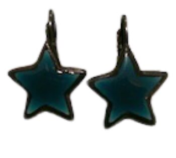 Star Earings Petrol