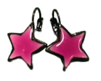 Star Earings Cerise