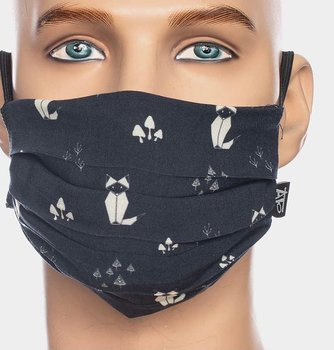 Facemask Black with cat