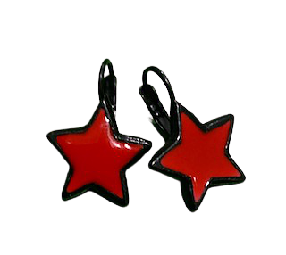 Star Earings Red