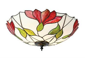 Tiffanylampa Taklampa Malva Ø 45cm