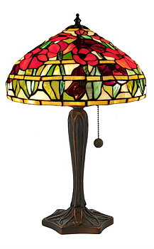 Tiffanylampa Bordslampa Poppy Ø 31cm