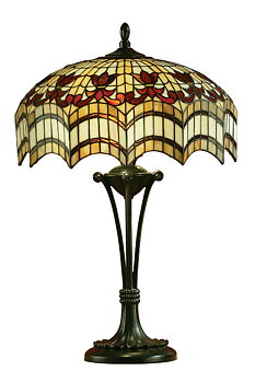 Tiffanylampa Bordslampa Curtain Ø 31cm