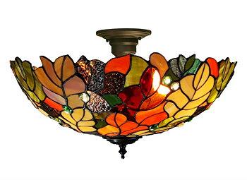 Tiffanylampa Plafond Oak Ø 49cm