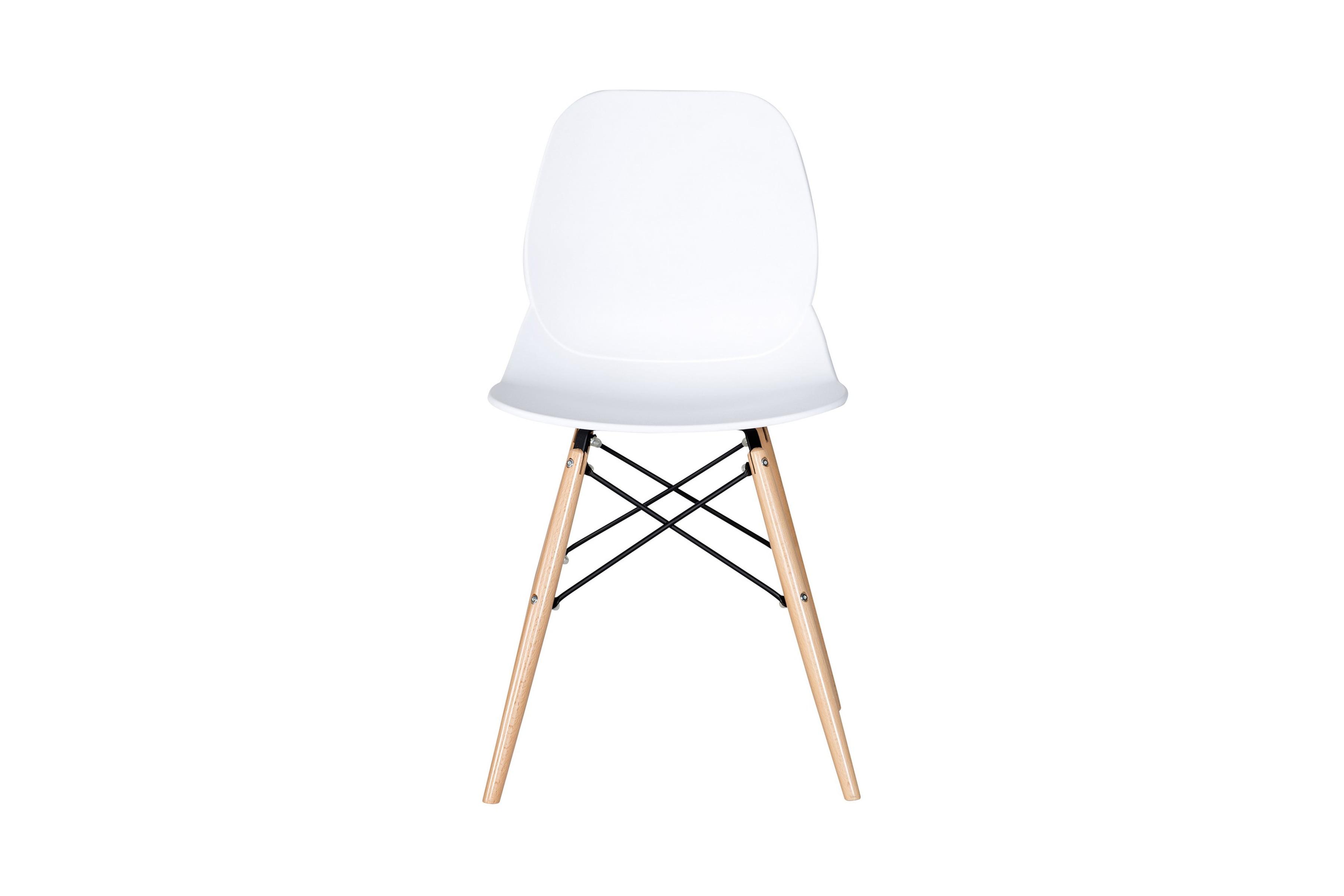vita stolar med träben