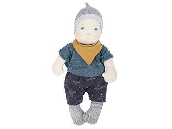 Doll 'Les Bébés' grey