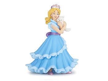 Prinsessa med katt blå