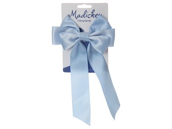 Hårspänne med rosett 'Madicken' ljusblå