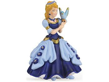 Prinsessa med fågel blå