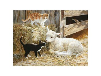 Card 3D Springtime kittens