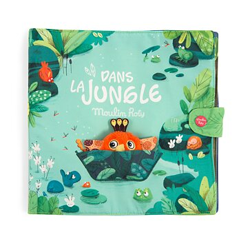 Fabric book Dans la Jungle large