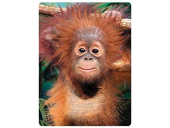 Card 3D Baby orangutan