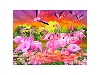 Kort 3D Flamingos