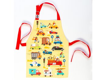Apron 'On the move' matte laminated