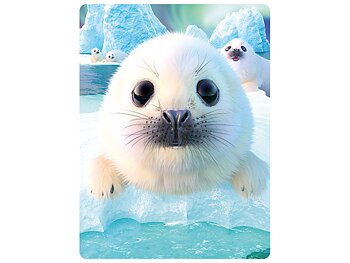 Card 3D Seal pups