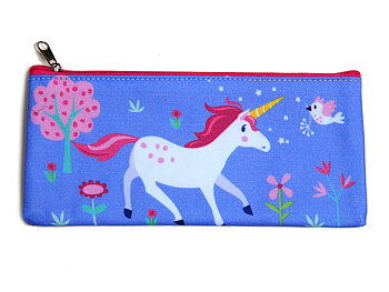 Pencil case 'Lulu l'unicorn' matte laminated