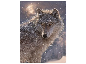 Card 3D Lone wolf