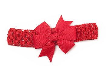 Hårband med rosett 'Lotta' röd