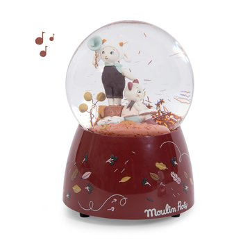 Musical globe with confetti