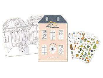 Aktivitetsbok med stickers Les Parisiennes