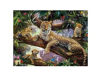 Kort 3D Leopard med ungar