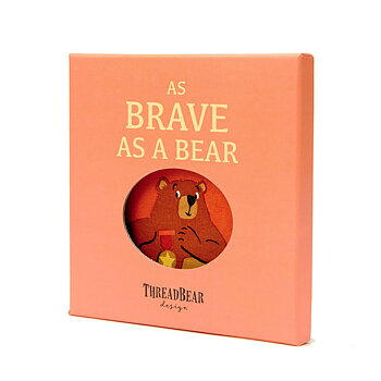 Fabric book Brave as a bear