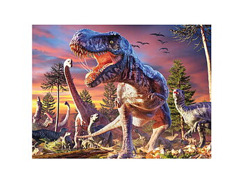 Card 3D T-rex attack