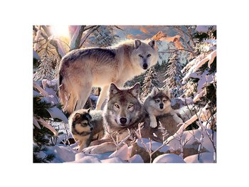 Card 3D Winter wolves