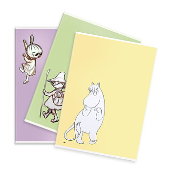 Notebook squared Moomin assorted